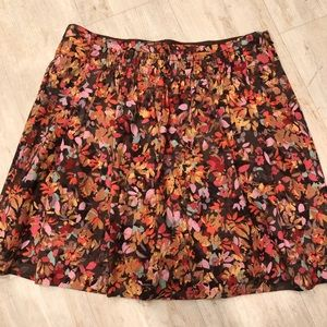 J. Crew Floral Skirt in Fall Colors Size 2